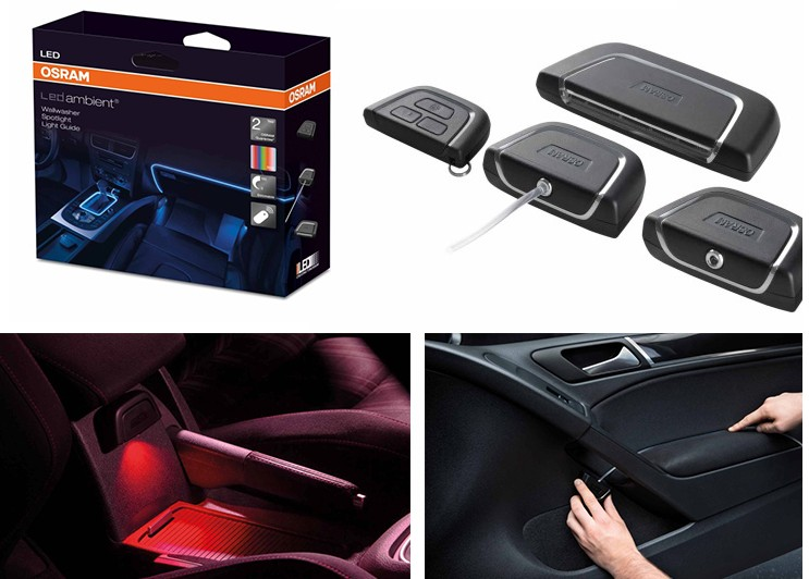 kit led auto interior tunning osram ledambient cod. Black Bedroom Furniture Sets. Home Design Ideas