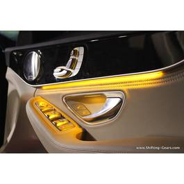 Fir cu lumina ambientala pentru auto , neon ambiental flexibil 1 M Galben