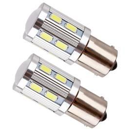 Set Becuri LED R5W cu 10 SMD Samsung, Lumina Alba