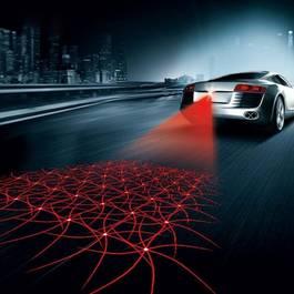 Lumina De Ceata Cu Raza Laser - Anti-Accident , Model 2