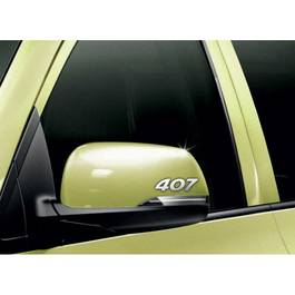 Stickere oglinda CHROME - 407 (set 2 buc.) Modern Tuning