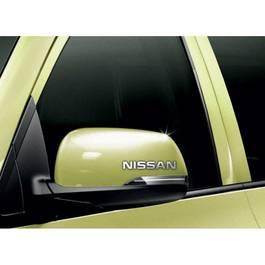 Stickere oglinda CHROME - NISSAN (set 2 buc.) Modern Tuning