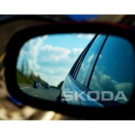 Stickere oglinda ETCHED GLASS - SKODA (set 3 buc.) Modern Tuning