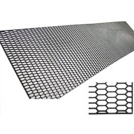 Plasa tuning fagure, din plastic 002 neagra 120x30cm  - PTF79678