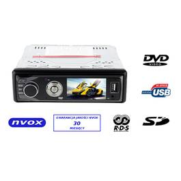 Radio CD DVD MP3 Player Auto 1DIN cu Ecran LCD de 3 inch, USB, Card SD, AUX, Redare Foto si Video