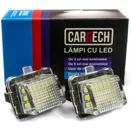 Lampi numar dedicate cu LED Mercedes Benz W204 4 usi