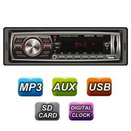 Radio MP3 Player Auto 1DIN / FM / USB / LED / Ceas / Card MicroSD