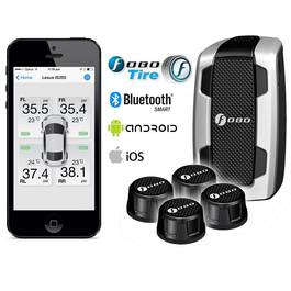 Sistem Performant FOBO Plus TPMS Autoutilitare de Monitorizare a Presiunii si Temperaturii din Roti pe Telefon prin Bluetooth - 6 Bari