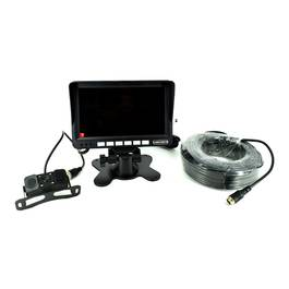 Sistem kit monitor senzor parcare + camera mansarier turism/camion  12V-24V.  Lungime cablu 22m . COD: 8828 TopCars