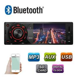 Radio MP3 Player Auto 1DIN cu Display, Telecomanda, USB, Card SD, Bluetooth, Microfon Incorporat, Putere 4x45W