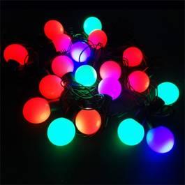 Instalatie pentru Craciun Multicolora RGB cu 19 LED-uri, Lungime 4,2m, Schimbare Automata a Culorilor