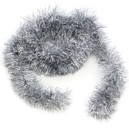 Beteala pentru Craciun, Lungime 5m, Culoare Argintiu, Diametru 5cm