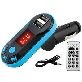 Modulator FM Auto MP3 Bluetooth cu Dublu USB, Telecomanda si Cablu Jack-Jack AUX
