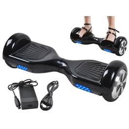 Scooter Electric Hoverboard cu LED, Viteza 10km/h