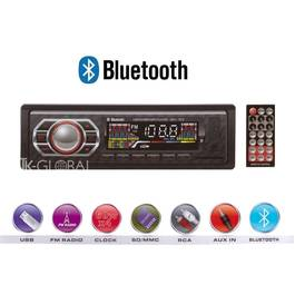 Radio MP3 Player auto bluetooth 1DIN, USB, SD, AUX, putere 4x60W cu telecomanda + microfon incorporat