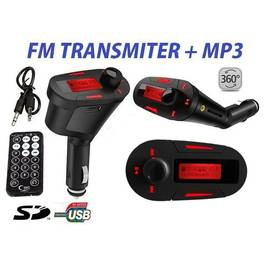Modulator FM MP3 Auto cu Display Rosu Telecomanda USB Card SD AUX Jack 12/24V