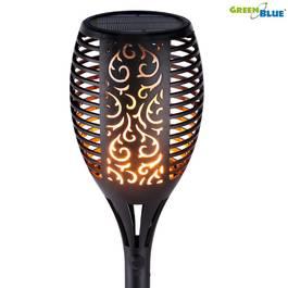 Lampa Solara LED pentru Curte sau Gradina cu Efect Real de Flacara Torta