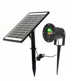 Proiector Laser LED Tip Star Shower 3D Metal Interior/Exterior, Efecte de Lumini Miscatoare, Incarcare Solara si Telecomanda