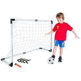 Set Joc de Fotbal pentru Copii cu Minge, Pompa si Poarta cu Plasa pentru Antrenament