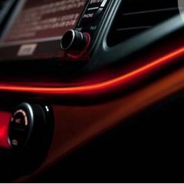 Fir cu lumina ambientala pentru auto , neon ambiental flexibil 2 M rosu - flr291