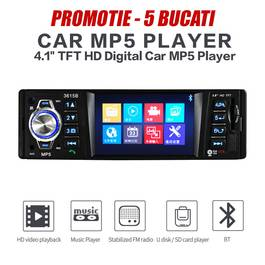 PACHET PROMOTIONAL 5 BUC - Radio MP3 / MP5 Player cu BLUETOOTH COD: 4514-BT VistaCar