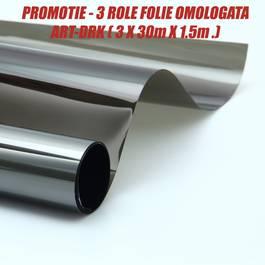 PROMOTIE 3 ROLE Folie omologata DRK ( 3 x 30m X 1.5m. ) VistaCar