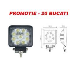 PROMOTIE 20 BUCATI - Proiector LED  27W 12/24V CH006 - 27W ManiaCars