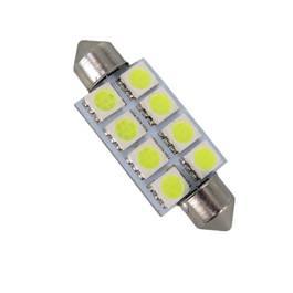 Bec LED SOFIT 42MM 8 SMD 5050 12V ALBA  COD: PT93 ManiaCars