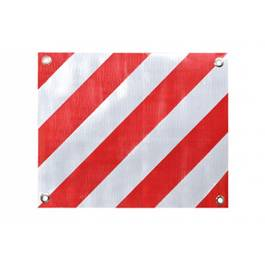 Element reflectorizant PVC pe suport fix 50x40 , placa semnalizare gabarit depasit , 1 buc.