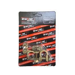 Set 2 borne baterie auto Breckner plus si minus cu clema de fixare pentru tractoare si alte vehicole