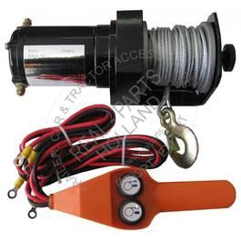 Troliu auto electric 12V profesional 2000LBS 906kg, cu cablu 15m, cu telecomanda control