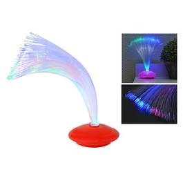 Veioza Decorativa cu Fibra Optica LED Multicolor, 8 Moduri Iluminare, Baza Rosie