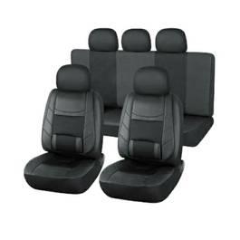 Set huse scaune auto Toyota Carina din piele ECO, fata si spate, ortopedice, culoare negru
