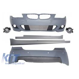 Kit Exterior BMW Seria 5 E60 (2007-2010) M-Technik Design cu PDC 18 cm