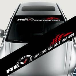 "Sticker parasolar auto ""REV"" (126 x 16cm)"
