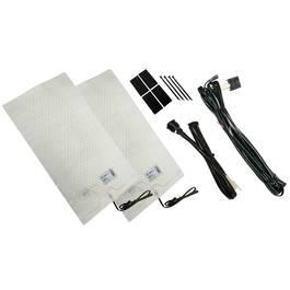 Kit Incalzire Scaune Auto Carbon Keetec cu 2 Trepte de Incalzire 12V pentru Sezut si Spatar 47x25 cm - BIT