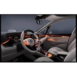 Fir cu lumina ambientala pentru auto , neon ambiental flexibil 2 M Portocaliu