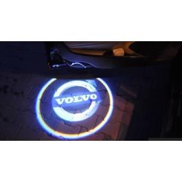 Kit proiectoare logo Holograma, montare sub usa Volvo