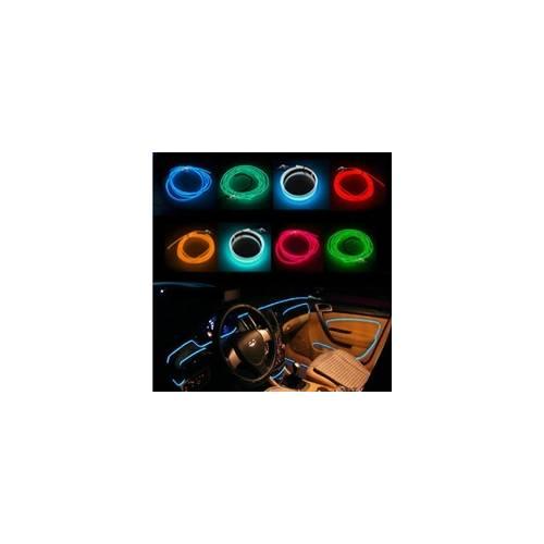 Fir cu lumina ambientala pentru auto , neon ambiental flexibil 1 M Albastru - flr291