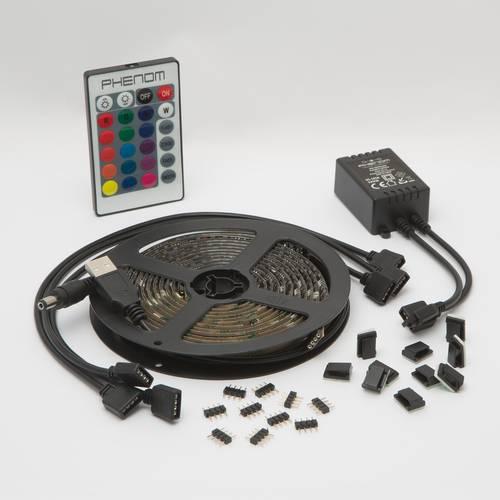 Kit Premium 4 x Banda LED USB pentru Iluminare Ambientala in Spatele Televizorului Backlight TV RGB, Model 4 Bucati cu Telecomanda