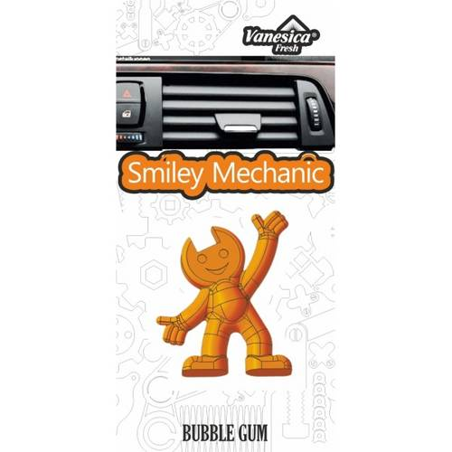Odorizant auto SMILEY MECHANIC aroma Bubblegum pentru grila aerisitoare AutoPro Style
