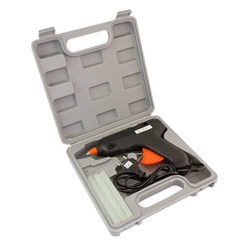 Pistol de lipit la cald 60W + cutie + 6 stickuri adeziv