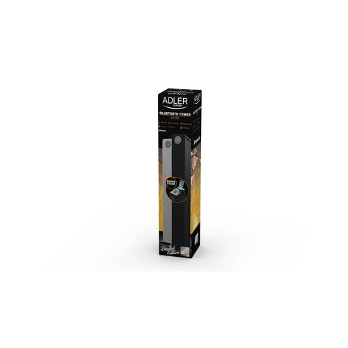 Sistem Audio Stereo Boxa Bluetooth Turn Adler cu Telecomanda, USB, SD, AUX, LED, Putere 40W, Negru