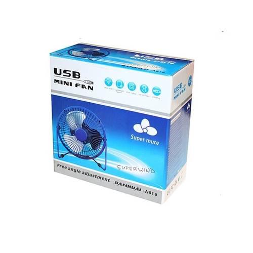 Ventilator metalic cu alimentare port USB - diametru 16cm - culoare Negru