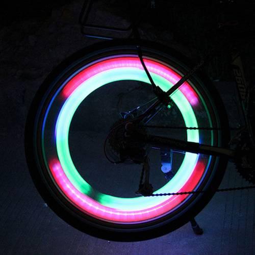 Iluminat LED Decorativ pentru Spite Bicicleta cu 3 Tipuri de Iluminare, Culoare Rosu