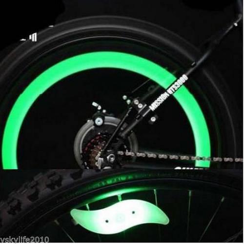 Iluminat LED Decorativ pentru Spite Bicicleta cu 3 Tipuri de Iluminare, Culoare Verde