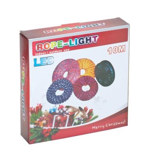Instalatie Tip Furtun Luminos pentru Craciun cu LED Multicolor RGB pentru Exterior, Lungime 10m, 240 LED-uri