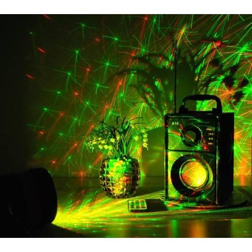 Proiector Laser LED tip Star Shower Waterproof, Rosu cu Verde