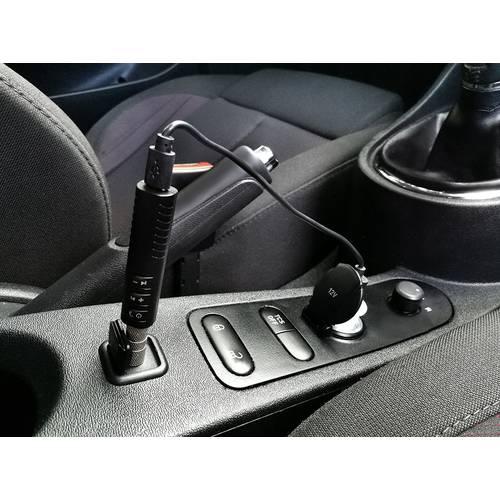 Adaptor Bluetooth Auto 12V cu Mufa Jack pentru AUX de la Masina, Microfon si Cablu USB