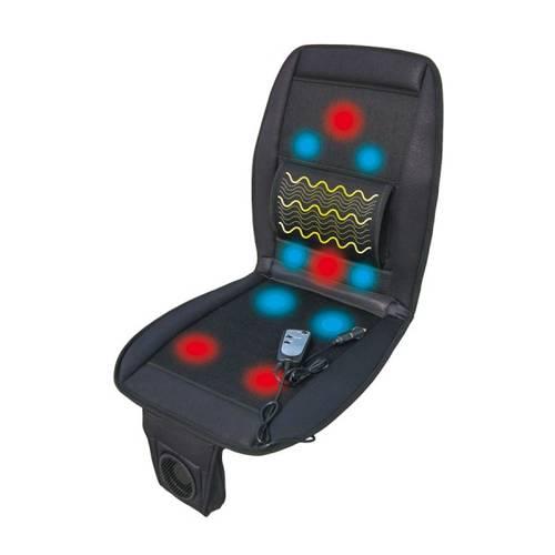 Husa Scaun Auto 3-in-1 Deluxe 12V cu Incalzire, Masaj si Ventilatie + Telecomanda